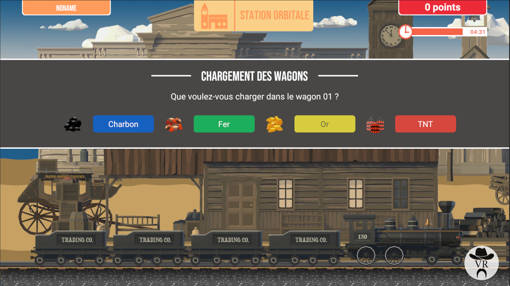 Game of Train Virtual Rangers