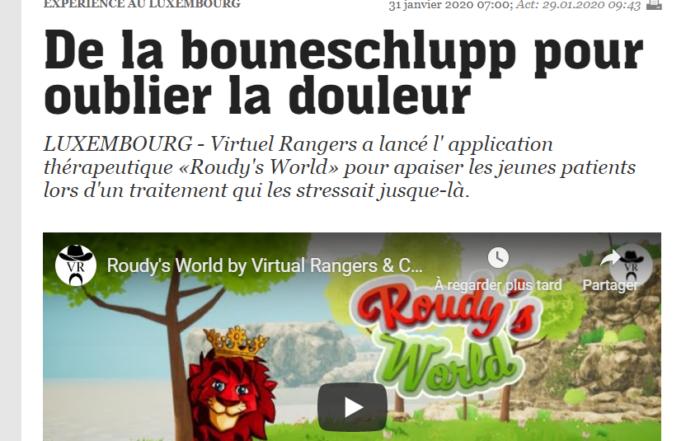 Article Essentiel Virtual Rangers